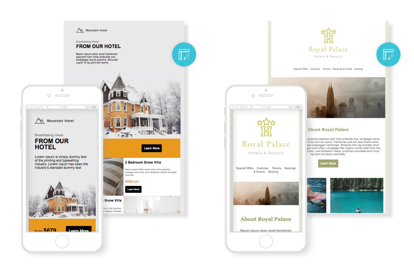 email newsletter template for hotel